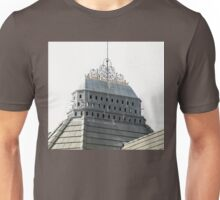 Bygone Roof Structure, Lewis and Clark College Unisex T-Shirt