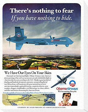 Obama Airways Drone Parody Poster by LibertyManiacs