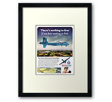 Obama Airways Drone Parody Poster Framed Print
