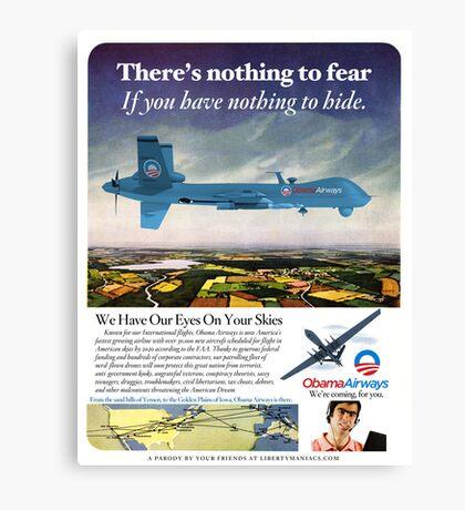Obama Airways Drone Parody Poster Canvas Print