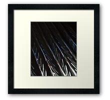 Iridescent ripple Framed Print