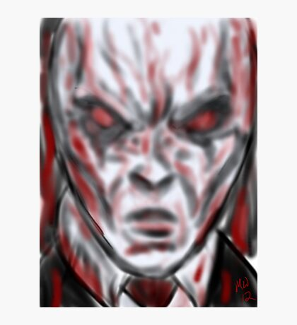 Slender man the face of hell  Photographic Print
