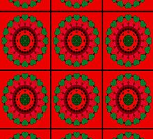 Christmas Colors - Mandala Design by Scott Mitchell