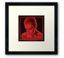 Annie Lennox painting Framed Print