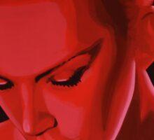 Annie Lennox painting Sticker