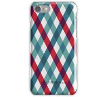 Argyle in Red and Teal iPhone Case/Skin