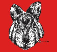 The Rabbit - Ink Drawing One Piece - Short Sleeve