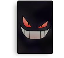 Dark Gengar - Minimal Pokemon Art Poster Canvas Print
