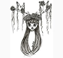 Antler Girl Ink Drawing T-Shirt