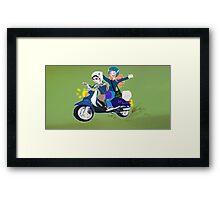 Scooter Joy Framed Print