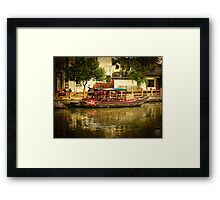 Life Along the River ~ Where old and new China meet Framed Print