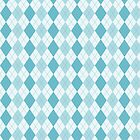Trendy Light Blue Argyle Pattern by Cierra Doran