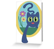 Pussyfoot Blue Greeting Card