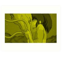Haku and Chihiro - Spirited Away Art Print