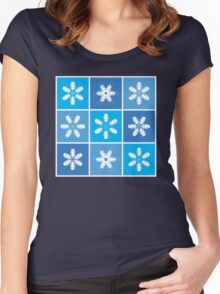 Winter Snowflake Lanterns Women's Fitted Scoop T-Shirt