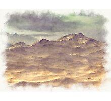 Painted Mountains Landscape Photographic Print