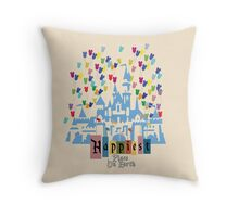 Happiest Place on Earth - Vintage Castle Throw Pillow