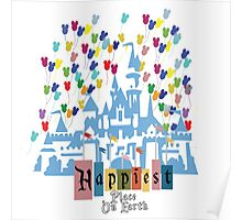 Happiest Place on Earth - Vintage Castle Poster
