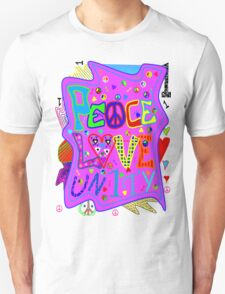 Peace, Love and Unity T-Shirt