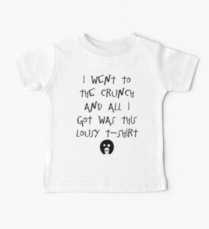 The Mighty Boosh – I Went to The Crunch and All I Got (Black) Baby Tee