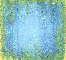 Blue and Green Abstract Mosiac by JessKayDesigns