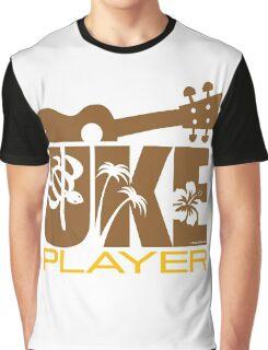 Uke Player Brown Graphic T-Shirt