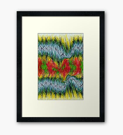 Fury abstract. Framed Print