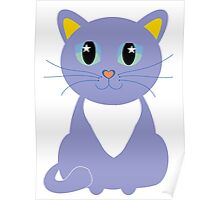 Only Lonely and Blue Cat Poster