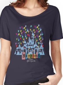 Happiest Place on Earth - Vintage Castle Women's Relaxed Fit T-Shirt