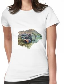 Rusty old farm equipment Womens Fitted T-Shirt