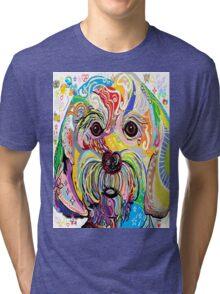 Maltese Puppy Tri-blend T-Shirt