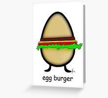 egg burger Greeting Card