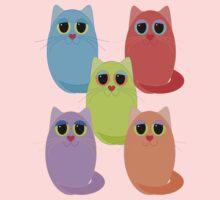 CAT FIVE POSE Kids Tee