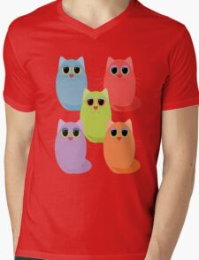 CAT FIVE POSE Mens V-Neck T-Shirt