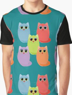 CAT FIVE POSE Graphic T-Shirt