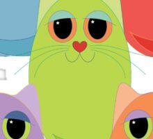 CAT FIVE POSE Sticker