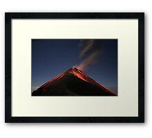 Eruption of Fuego by Moonlight Framed Print