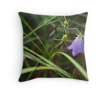 Bluebell in Tall Grass Throw Pillow