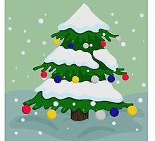 Christmas tree colorful by Marishkayu