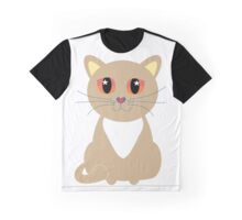 One and Only One Tan Kitty Graphic T-Shirt