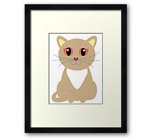 One and Only One Tan Kitty Framed Print