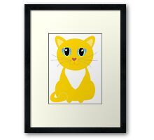 Only One Yellow Kitty Framed Print