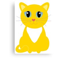 Only One Yellow Kitty Canvas Print
