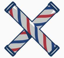 Barber's Pole Crossed Retro  T-Shirt