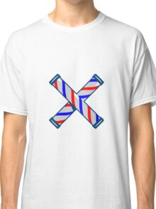 Barber's Pole Crossed Retro  Classic T-Shirt