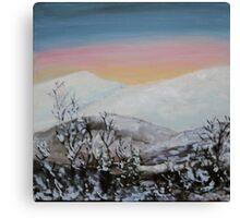 Sunset at Varset Canvas Print