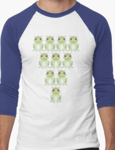 Royal Frog Formation (or Bowling Setup) Men's Baseball ¾ T-Shirt