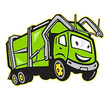 Garbage Rubbish Truck Cartoon  by patrimonio