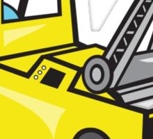 Tow Wrecker Truck Driver Thumbs Up  Sticker