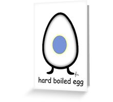 hard boiled egg Greeting Card